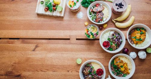 Verkkosivut ja brändi ruoan verkkokaupalle