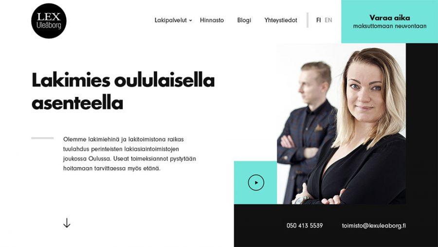 Lex Uleåborg verkkosivut