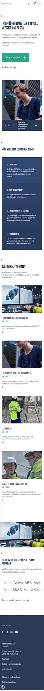 Rejlers verkkokauppa mobile