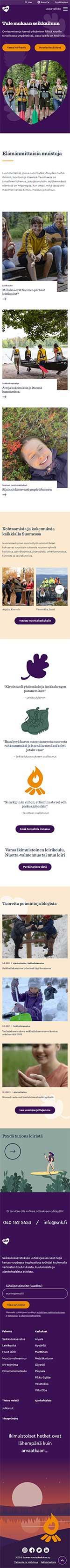 Suomen nuorisokeskukset verkkosivut mobile leiska